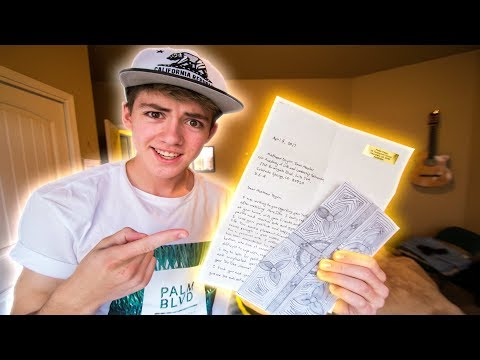 MY FIRST EVER FAN MAIL!