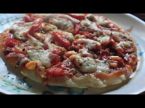 How to cook pizza  at home without microwave   mozzarella cheese pizza video