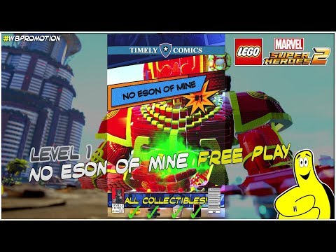 Lego Marvel Superheroes 2: Lvl 1 / No Eson Of Mine FREE PLAY (All Collectibles) - HTG