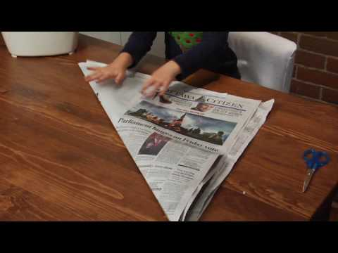 Organic Origami: How to make a liner for your kitchen container