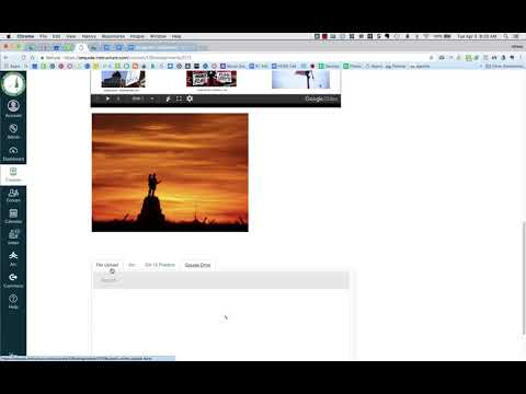 Canvas Submit a Google Doc as a File Upload