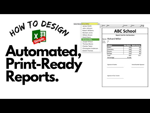 How to create an Excel dashboard and Excel Reports template