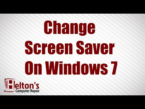 How to Change Screen Saver on Windows 7