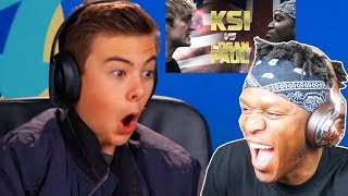 "KSI REACTS TO ""TEENS REACT TO LOGAN PAUL VS KSI BOXING MATCH"""