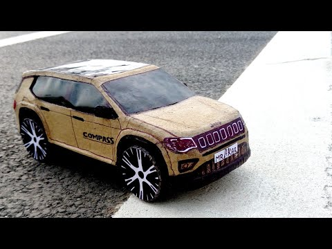 How To Make A RC Car ( Jeep Compass) Amazing DIY cardboard car, cardboard paper car