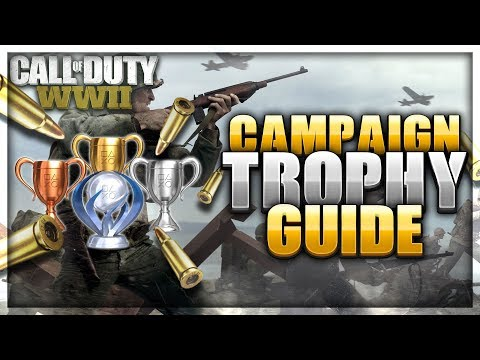 100% Completion Campaign Trophy Guide (Mementos Locations) | COD WWII