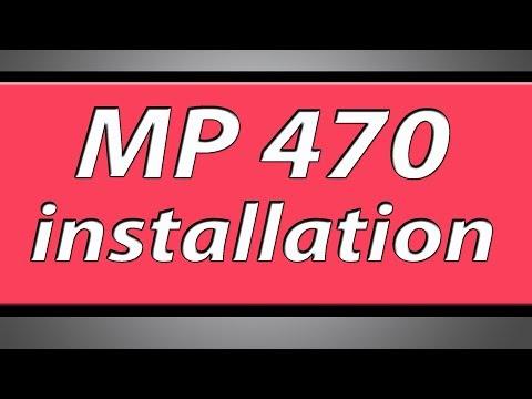 Canon Pixma MP470 printer installation