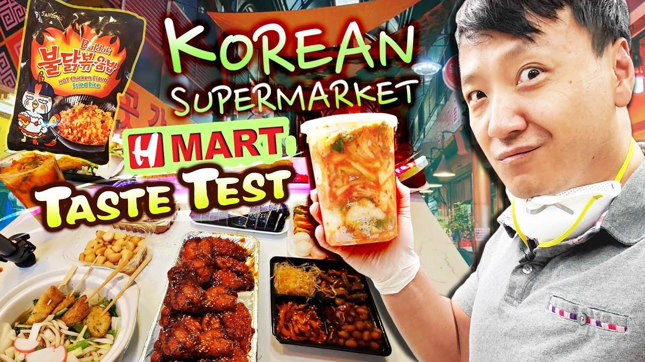 H-MART KOREAN SUPERMARKET Taste Test! BEST & WORST Korean Grocery Market Foods