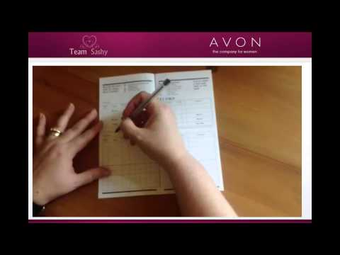 AVON rep tutorial - how to use your calling book