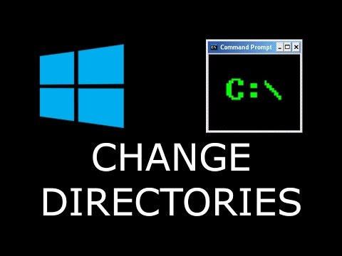 Command Prompt Change Directories/Folders To Another Drive