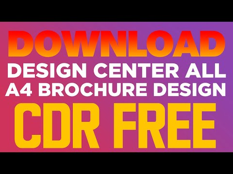 CorelDraw X7 Tutorials -- Download Design Center All Brochure Design Free