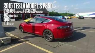 Tesla Model S P85D at Lightning Lap 2016