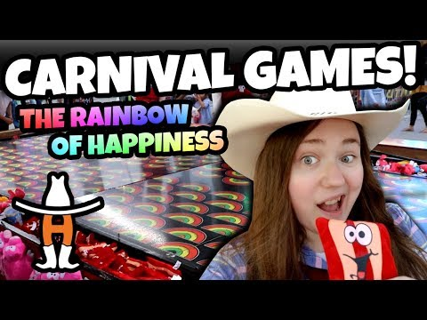 Cheap Carnival Game?! Rainbow of Happiness Carnival Game at the Rodeo Houston Rodeo!