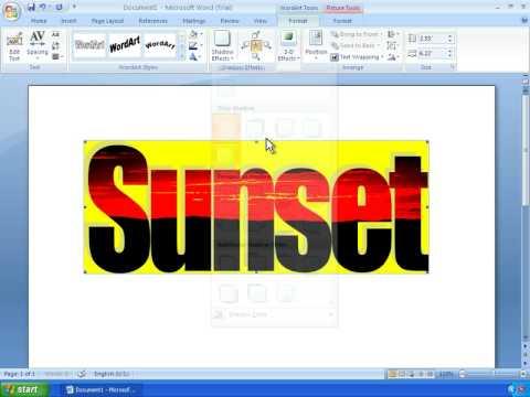 Word 2007 Tutorial 12 - Working With WordArt