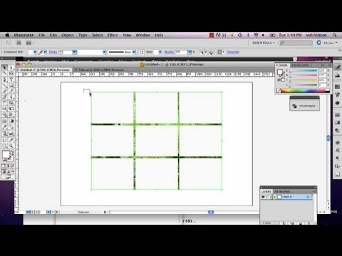 How to Cut a Picture Into Squares Using Illustrator : Adobe Illustrator