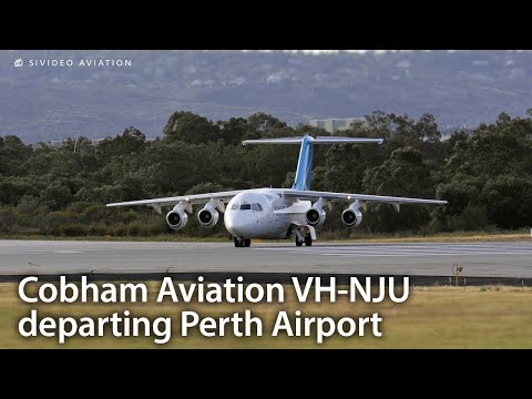 Cobham Aviation (VH-NJU) early morning departure from Perth Airport for Christmas Island.