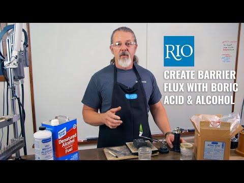 Create Barrier Flux With Boric Acid & Alcohol