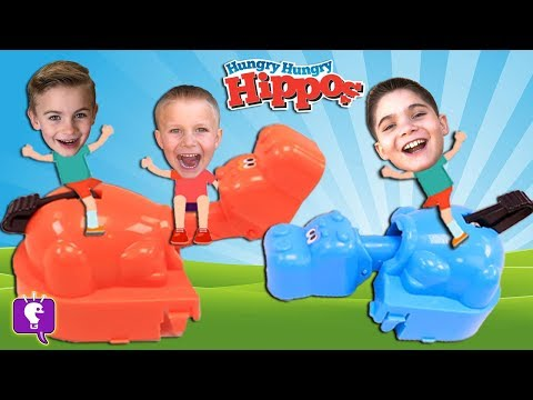 GIANT Hungry Hippo Game! Who Will Win?