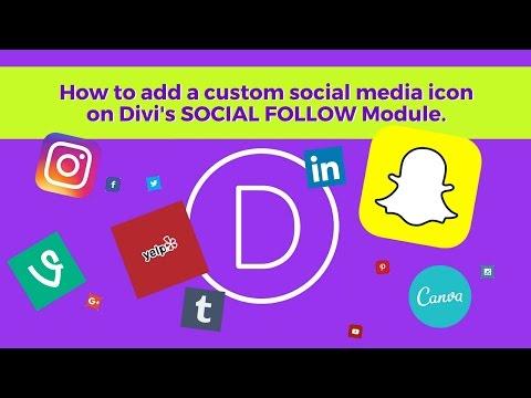 Add Custom Social Media Icons on Divi SOCIAL FOLLOW Module