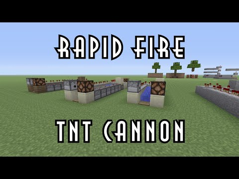 Minecraft Tutorial | Rapid Fire TNT Cannon