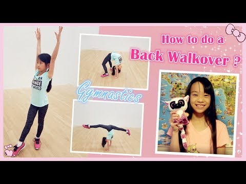 How to do a back walkover in gymnastics? | RG Selena