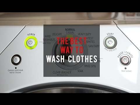 THE BEST WAY TO WASH CLOTHES: How To