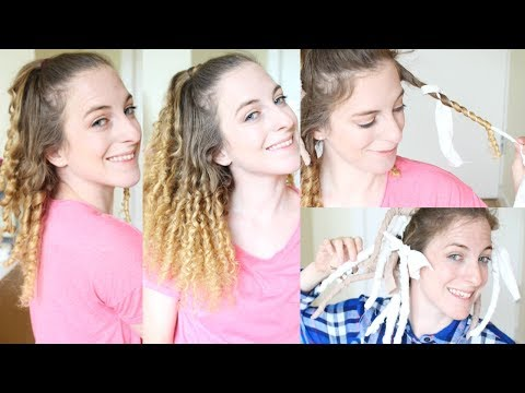 Overnight Heatless Rag Curls | Braidsandstyles12