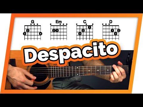 Despacito Guitar Tutorial (Lesson) - Easy Chords For Beginners
