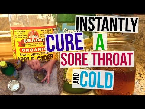HOW TO INSTANTLY CURE A SORE THROAT + COLD | Page Danielle