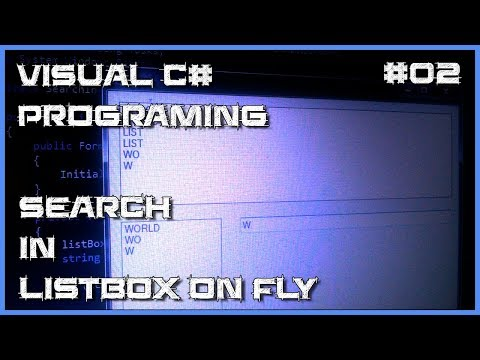Visual C# 02 - How to search for text in ListBox