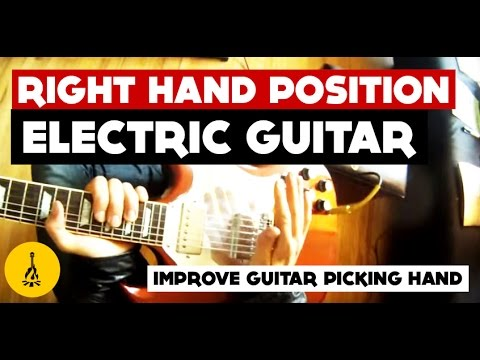 Right Hand Position Electric Guitar | Improve Guitar Picking Accuracy