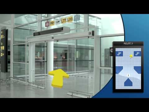How to get to the Aerobus bus stop at terminal T1
