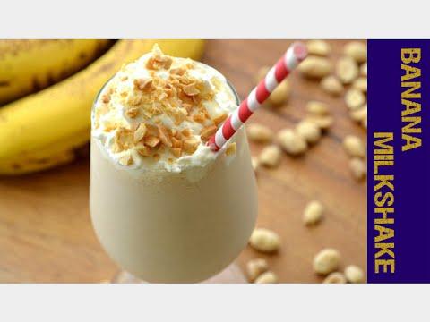 How to make Banana Milkshake with Ice Cream-Ruchi Chudu