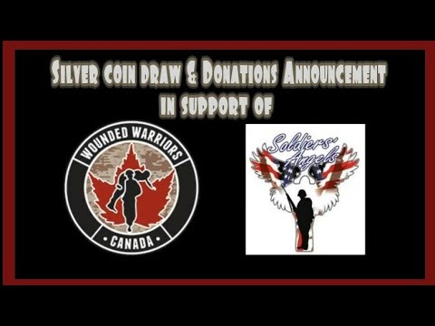 It's time for the silver coin draw & donation announcement. In support of our veterans charity drive