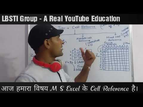 Cell Reference - Relative , Absolute , Mixed Cell Reference in Excel