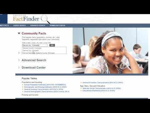 Finding U.S. Census Data