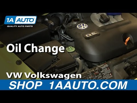 How To Do an Oil Change 1.8T 1998-10 VW Volkswagen Beetle