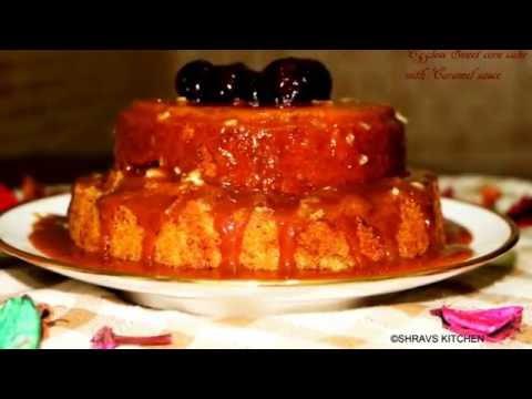 SWEET CORN CAKE WITH CARAMEL SAUCE