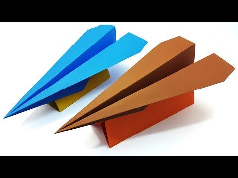 Easy And Simple Origami Airplane With Stand - My Design | Perfect Paper plane Instruction For Kids
