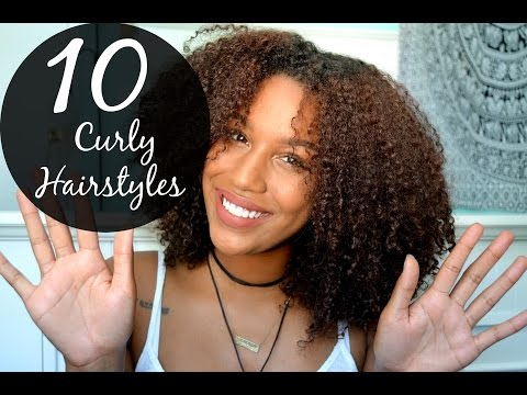 10 EASY Hairstyles for Curly Hair!