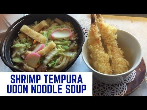 Shrimp Tempura Udon Noodle Soup - Red Tuna Tataki - Sashimi Sampler  - Japanese/Korean Food!