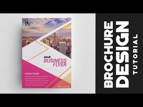 How to design brochure in photoshop cs6 Professional Corporate Brochure