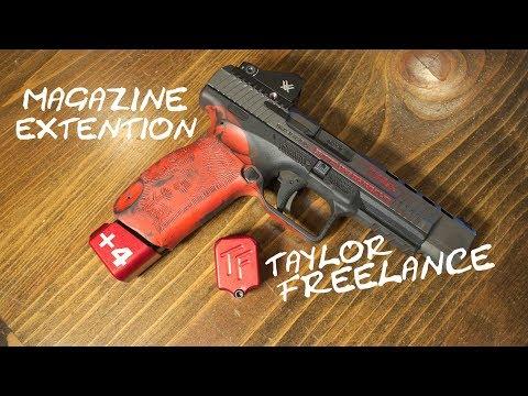 USPSA Legal CANIK TP9 Mag extension! Taylor Freelance +4