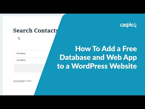 How To Add a Free Database and Web App to a WordPress Website