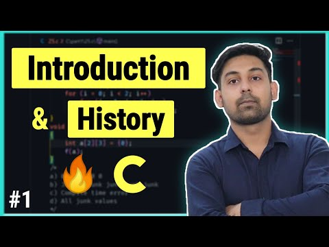 #1 Introduction and History of C language in Hindi & English