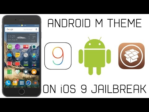 Ultimate iPhone Android Theme on iOS 9! (Jailbreak Required) | 1000 Subscribers