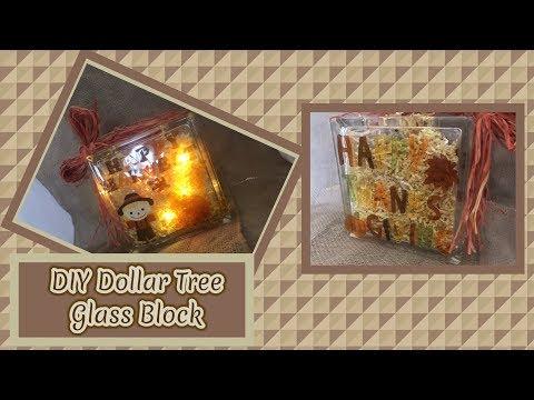 DIY Dollar Tree Glass Block