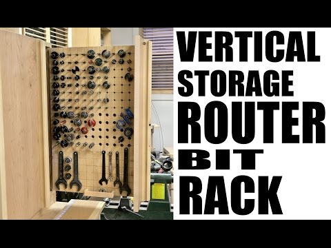 The Router Bit Rack - Building The Miter Saw Station Part 7