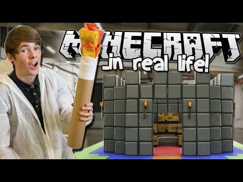 MINECRAFT.. IN REAL LIFE!   School of YouTube