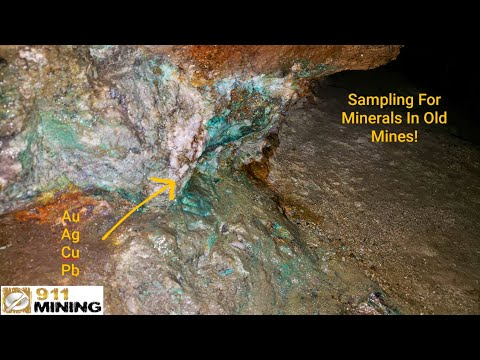 Prospecting For Au & Sampling In An Old Gold Mine